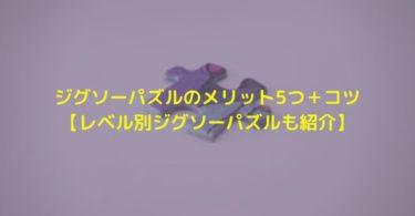 ジグソーパズルのメリット5つ+コツ【レベル別ジグソーパズルも紹介】